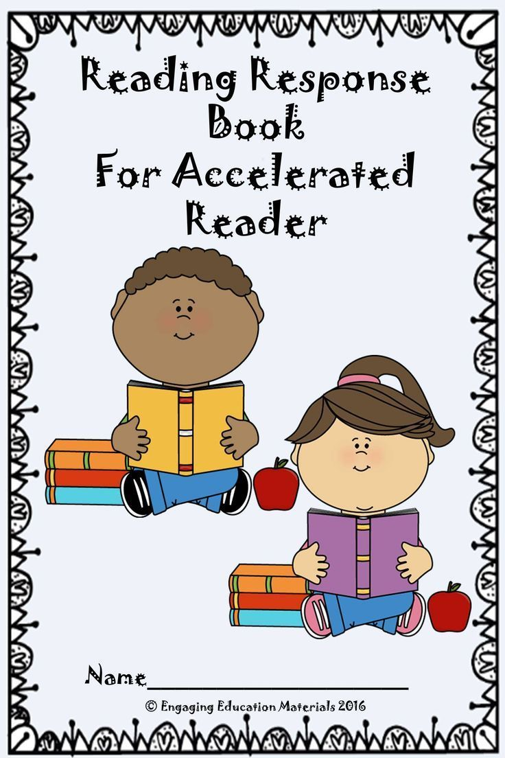 This reading response book is a great way to have students reflect on the Accelerated Reader books they read in class, while also documenting each book's level and AR quiz score.