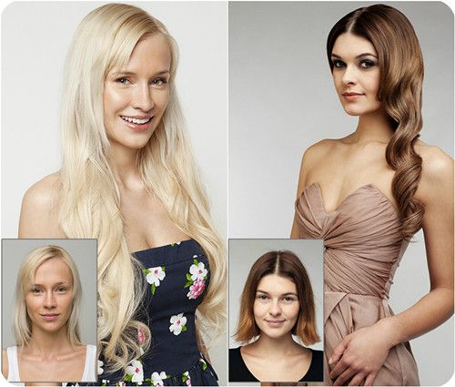 26 best beforeafter hair extensions images on pinterest long wavy hairstyle with smooth and best clip in human hair extensions pmusecretfo Choice Image