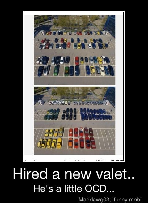 this would totally be ME! @Kaylamurray: Ocd, Laugh, Epic Win, Cars, Colors, Funny Stuff, Humor, Valet, So Funny
