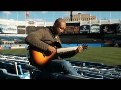 """This is so awesome. Bernie Williams playing """"Take Me Out to the Ballgame."""" They even mention Bernie's abilities (although not by name) in an episode of the West Wing. """"Did you know the center fielder for the Yankees is a classical guitarist?"""" Now you do. :-)"""