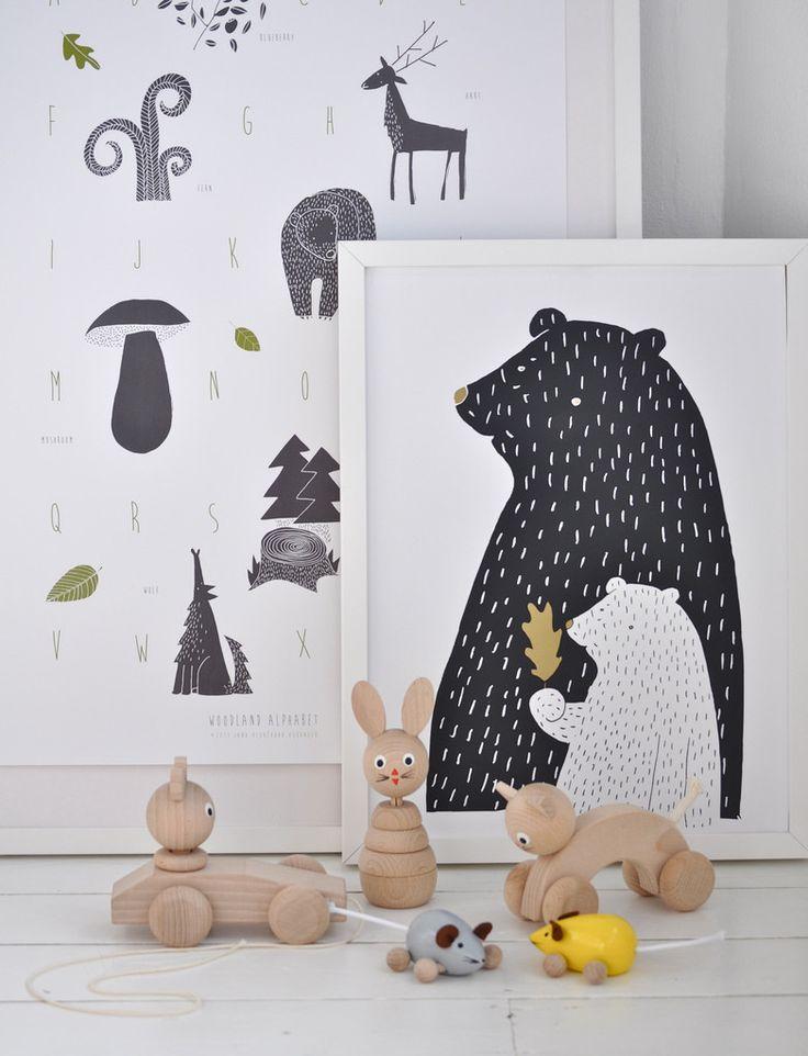 Mama #Bear #Print - Woodland Inspired #Poster