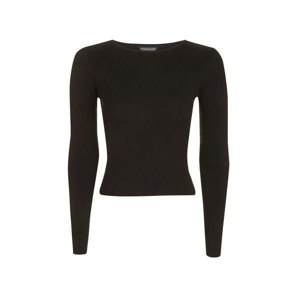 Topshop Open Back D-Ring Crop Knitted Jumper (85 BRL) ❤ liked on Polyvore featuring tops, sweaters, black, going out tops, topshop sweater, party tops, topshop jumpers and party crop tops