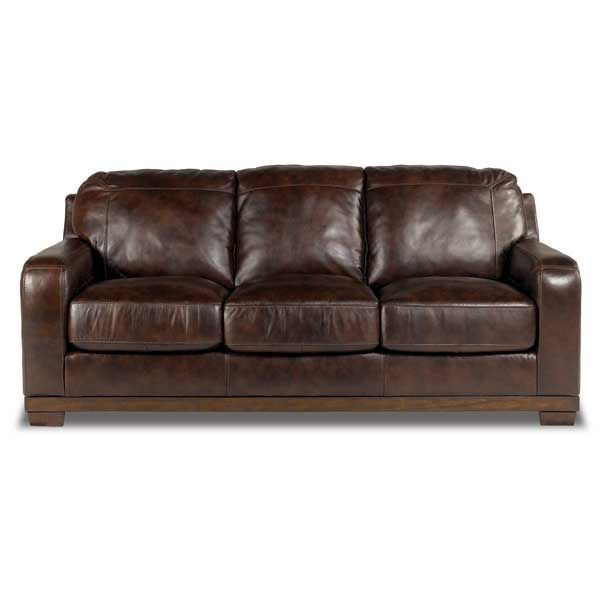 walnut all leather sofa 0y0400s from american furniture warehouse