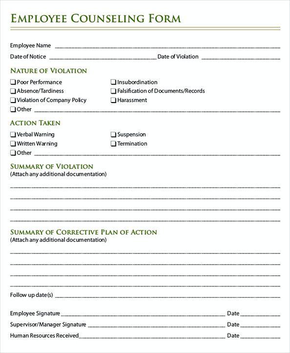 48  employee write up form  u2013 a professional way to