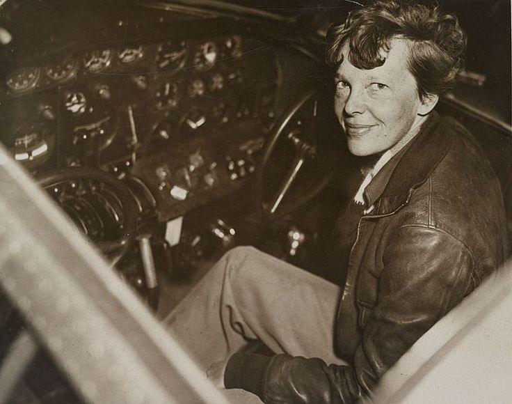 Amelia Earhart ( 24 July 1897 -  disappeared 2 July 1937) was the first female aviator to fly solo across the Atlantic.