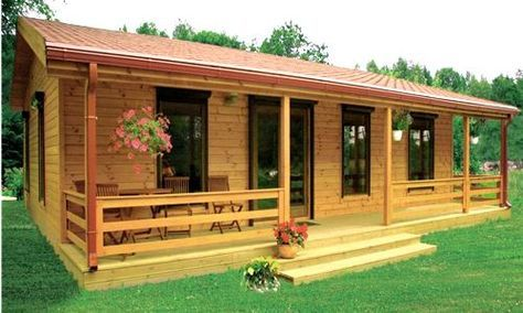 Casas de Madera Salamanca Rest House, Tiny House Cabin, Log Cabin Homes, House In The Woods, Cozy House, Log Cabins, Bamboo House Design, Tiny House Design, Old Style House