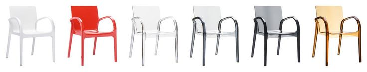 [Siesta Exclusive   Contract Collection   DEJAVU Armchair] Stacking armchair for indoor and outdoor use in shiny technopolymer PA6 nylon or clear polycarbonate moulded with gas technology of the second generation. Scratch resistant, self - extinguish classification V2, UV - resistant.