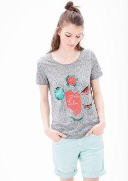 Žebrované tričko s ilustrací, s.Oliver #avendro #avendrocz #avendro_cz #fashion #soliver