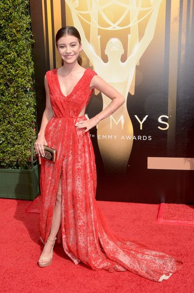 Actress G. Hannelius attends the 2015 Creative Arts Emmy Awards at Microsoft Theater on September 12, 2015 in Los Angeles, California.