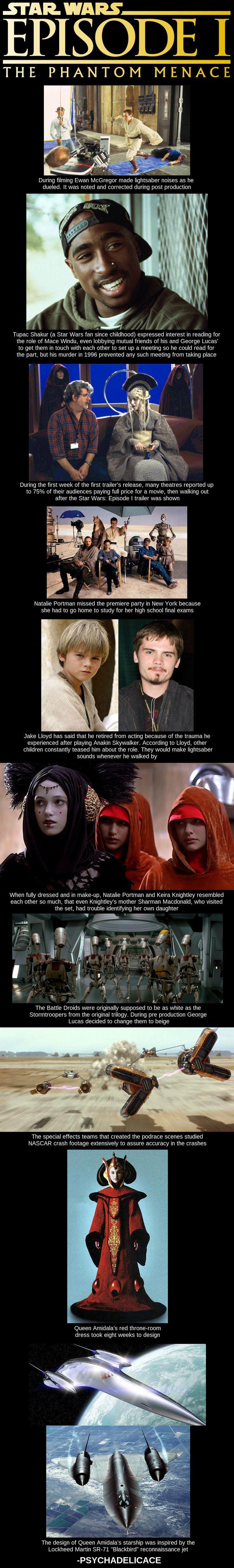 Phantom Menace Factoids #StarWars