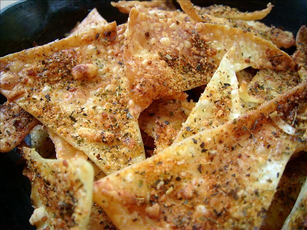 Lasagna Chips - Not only are these crisp snacks low in fat and salt, they also offer quite a change from the usual snack fare.