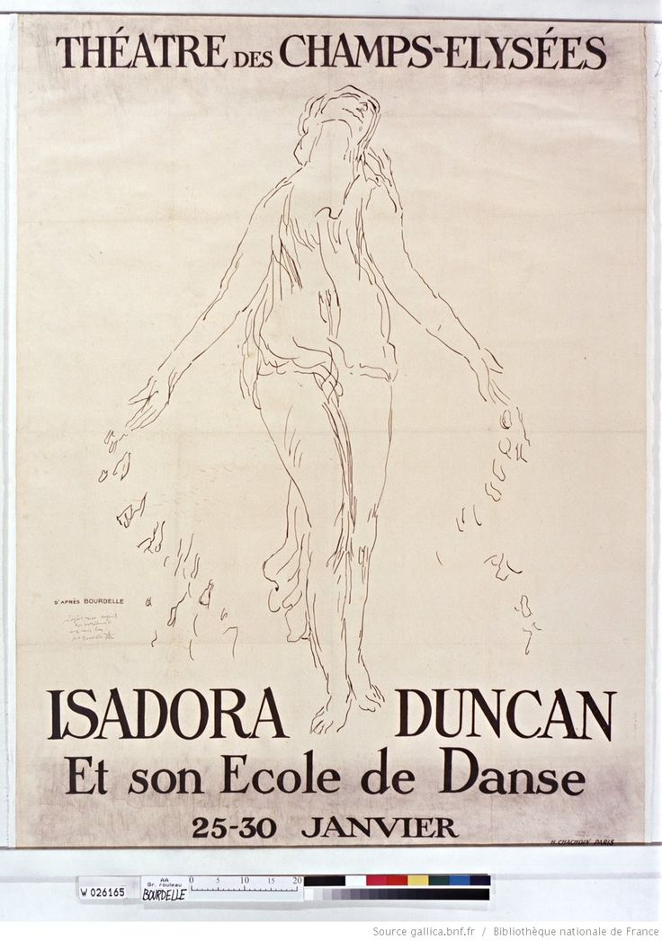 Théatre des Champs-Elysées.  Isadora Duncan and her dance school.  25-30 January: [poster] / by Bourdelle
