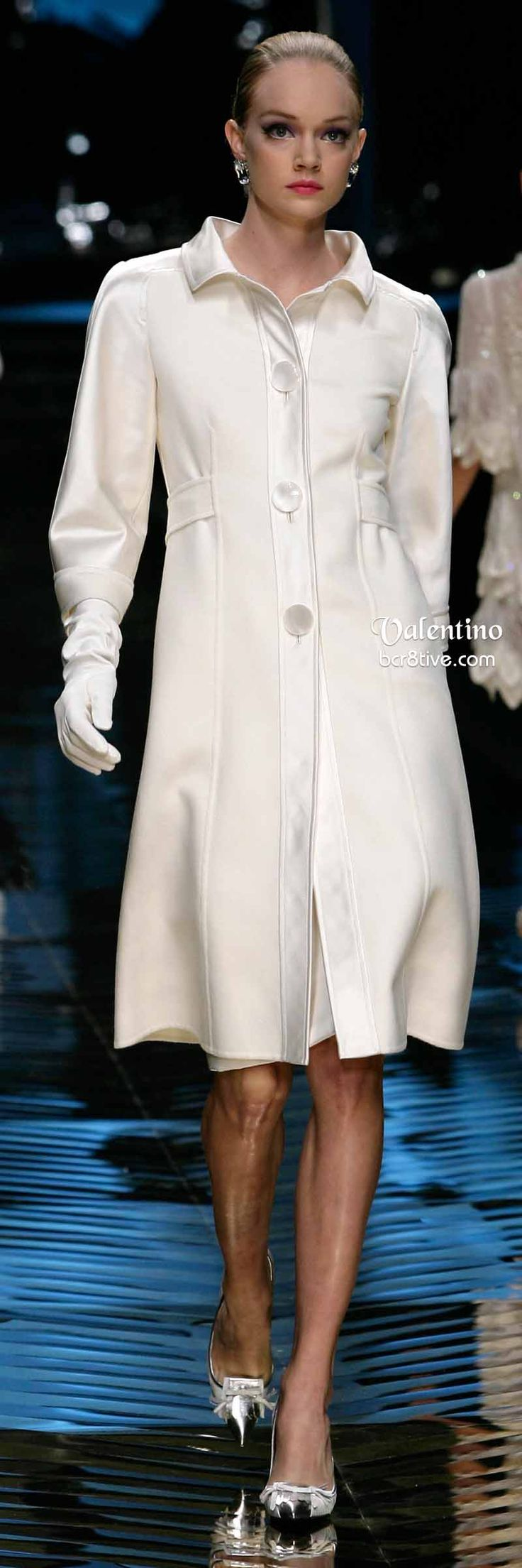 Valentino White Coat Dress