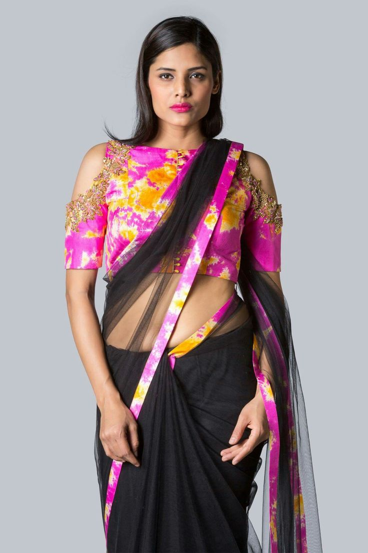 Off shoulder saree blouse