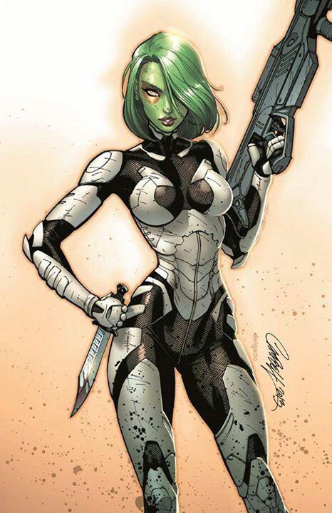 Gamora | by J. Scott Campbell