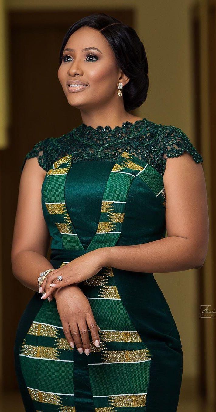 beautiful kente dress