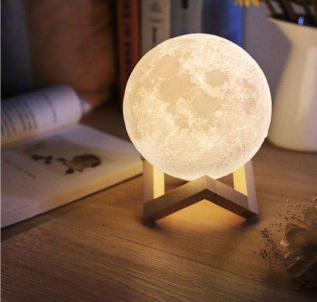 Epic CM D Moon LED Night Light Moonlight Base Table Desk Magical Gift Moon Lamp