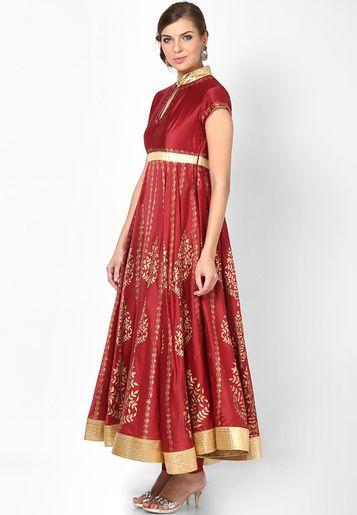 Rohit Bal For Jabong-Red Suit Set
