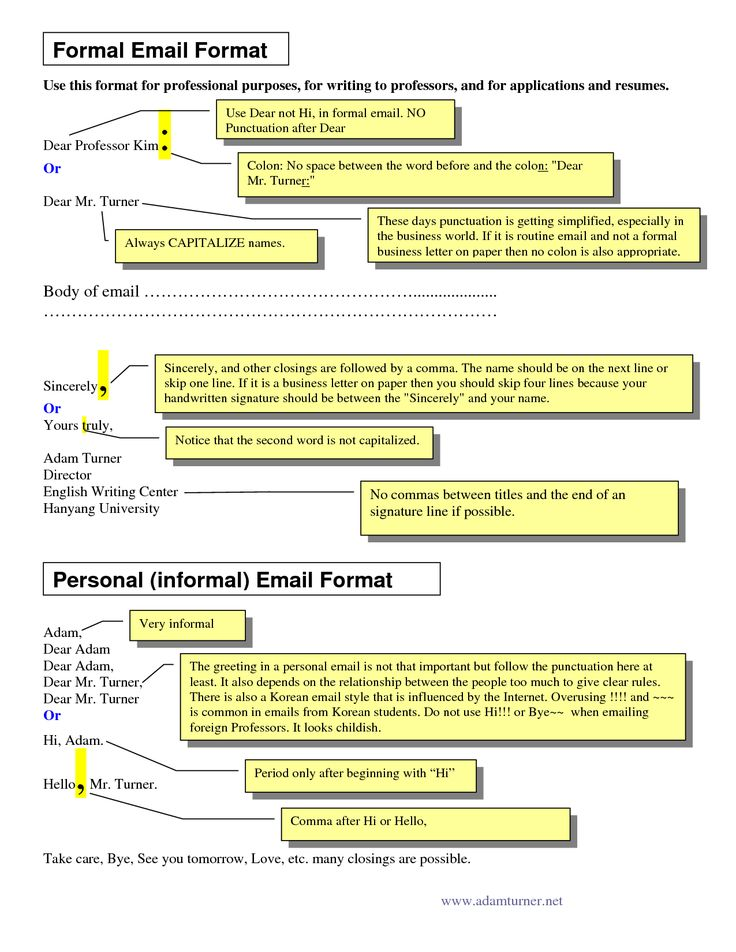 email letter sample Sample Of Formal Business Writing Formal Email Format  Email…