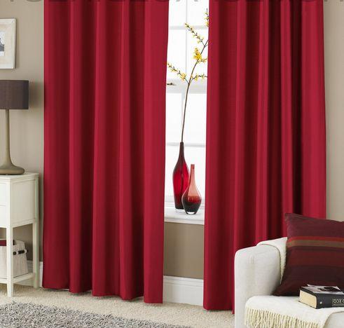 Красные шторы в интерьере | Ремонт квартиры своими руками