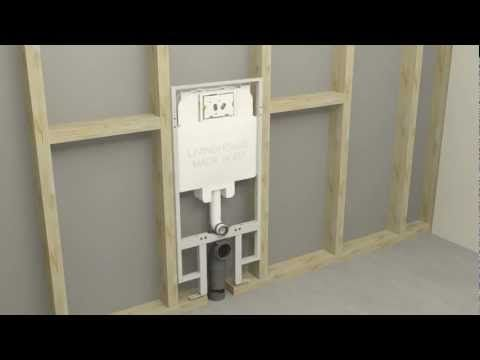 How to fit a concealed cistern for a wall hung toilet