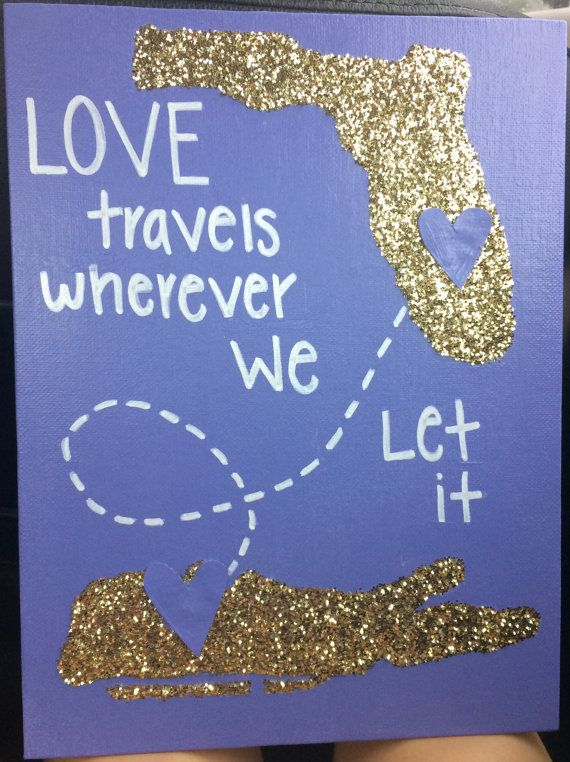 Custom Long Distance State canvas / Big Little by AbiMariah