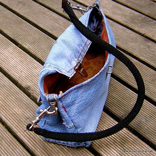 Recycled Jeans Bag: Jeans Clutch