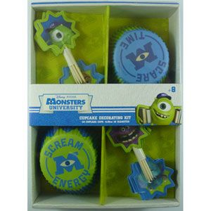 MONSTERS UNIVERSITY  CUP CAKE DECORATING KIT