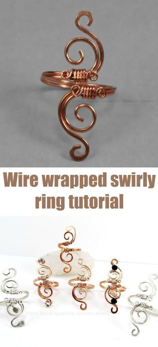 Had success with my first try using this free swirly wire wrapped ring tutorial. Now all my friends want one too. Recommended beginner wire wrapped jewelry tutorial.