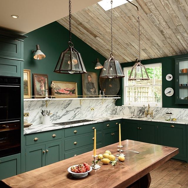#KitchenGoals - Deep #greens with #Italian #marble, topped with Bert & May cladding and #dreamy #design. Book your FREE kitchen consultation online today! (link in bio) - LOVE this kitchen from @devolkitchens   #ThrowbackThursday #DEVOL #Kitchen #InteriorDesign #Interior #Design #Designer #KitchenDesign #KitchenDesigner #House #Home #Decor #HomeDecor #Furniture #Colour #Colourpop #Architexture #Inspiration