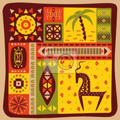 Фотообои Африканский орнамент