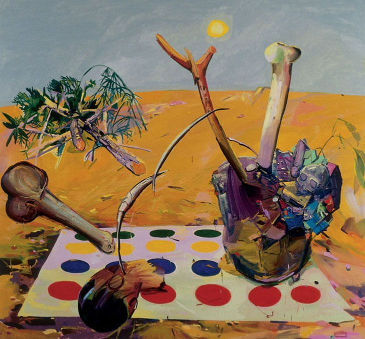 Dana Schutz Twister Mat, 2003 Oil on Canvas, 214 x 229 cm.