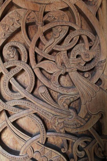 Celtic carving - I love Celtic art, my eldest daughter burns Celtic designs into wood, coffee tables etc.,