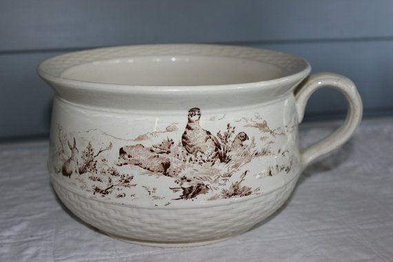 Antique Transferware Chamber Pot  W.B & Sons by AmeliesFarmhouse, $50.00