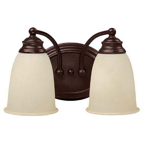 capital lighting fixture company mediterranean bronze two-light, Badezimmer