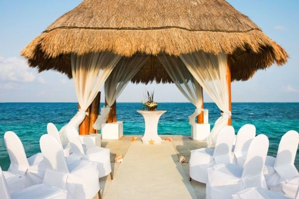 Breathtaking pier wedding venue at Excellence Riviera Cancun