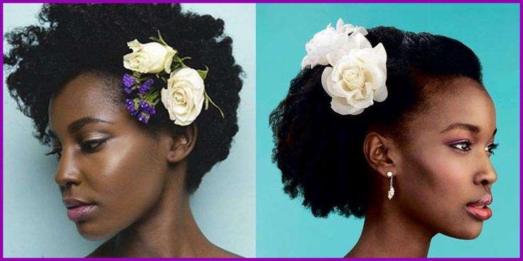 Mariage 20 idées de coiffures pour coiffures de mariage coquines et crépues …   – cheveux crépus | mariage