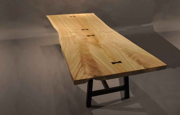 Live Edge Cottonwood Table Brooks Custom