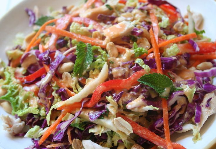 ... not so unique asian slaw with almonds sesame and sunflower seeds