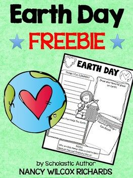 """This freebie is part of the resource, """"Earth Day Activities"""". The full resource has everything you need to celebrate Earth Day! (It contains 3 levels of Easy Readers, activities for writing, comprehension and word study, an Earth Day pledge, math  tallies and graphs, art, a game, certificates and an original song!"""
