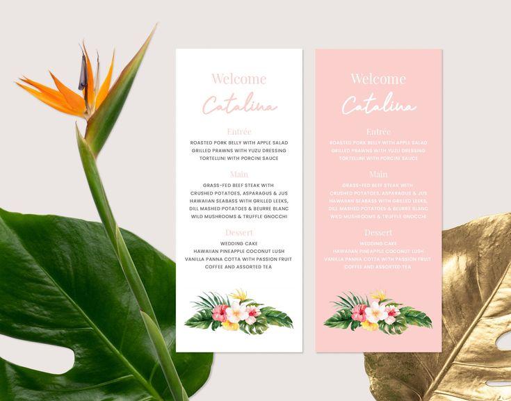 guest name menu place cards menu template tent card