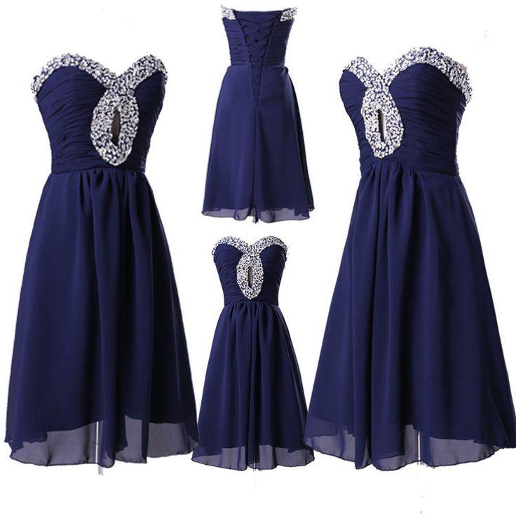 2014+New+Short+Sequins+Wedding+Bridesmaid+Dresses+Bridal+Party+Homecoming+Dress