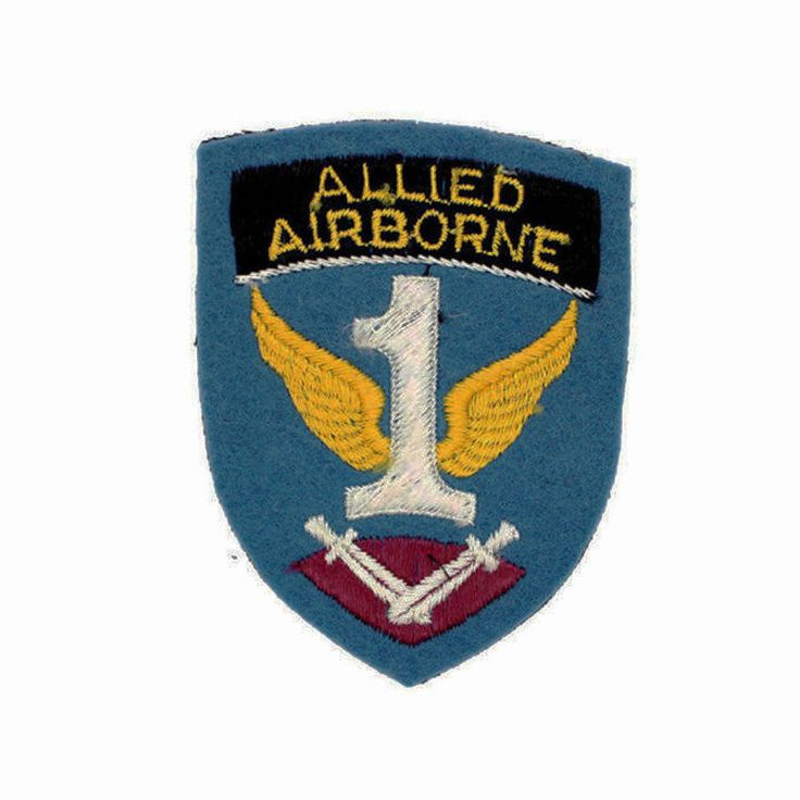 English Made WWII 1st Allied Airborne Army Shoulder Insignia Patch - 2nd Pattern