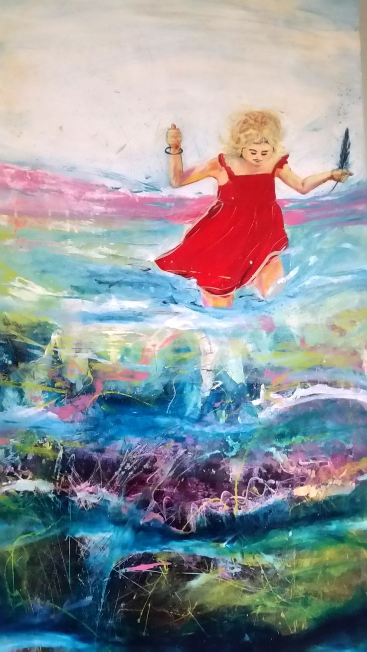 """""""Running in the water."""" by Debra Dougherty. Paintings for Sale. Bluethumb - Online Art Gallery"""