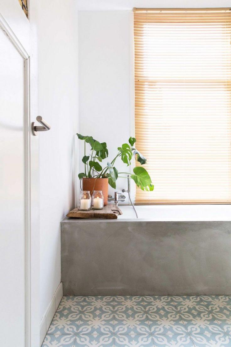 salle de bain carreaux de ciment maison deco - Salle De Bain Inspiration Scandinave