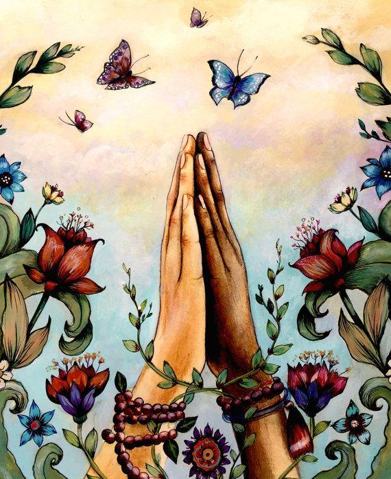 impresión de Namaste Rosario arte                                                                                                                                                                                 Más