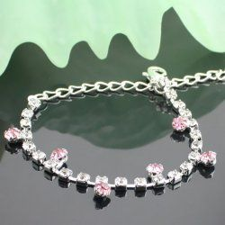 Le Mirador rose strass bracelet