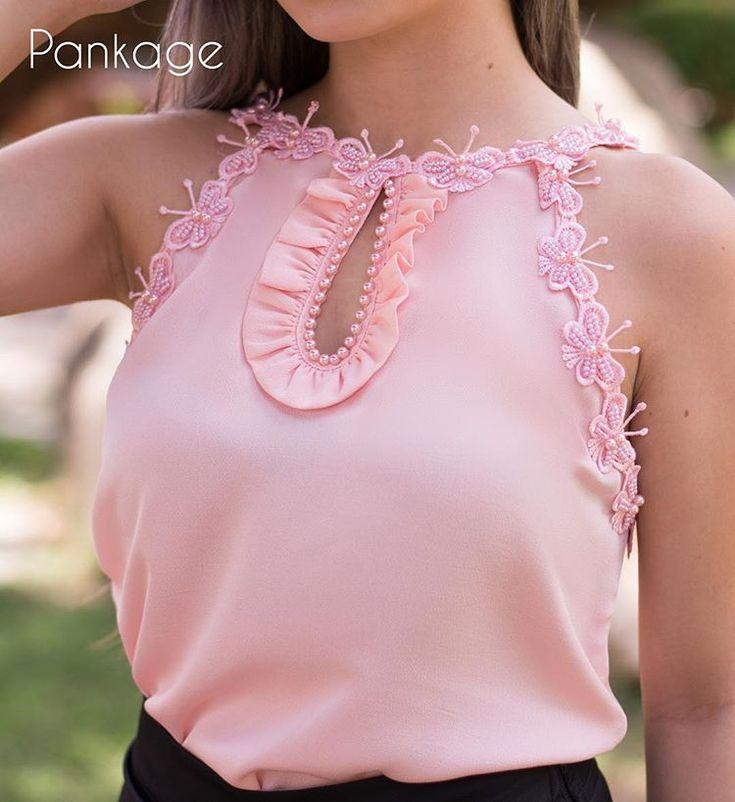 Um zoom merecido nessa blusa linda! Reposição já nas lojas. #blusamusa #detalhes #estiloromantico #borboletas #bordado #roupadeboneca #handmade #ootd #lovelygirlpankage