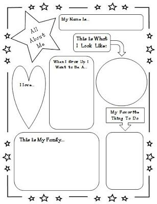 All About Me Poster - Back to School/First Week Ideas