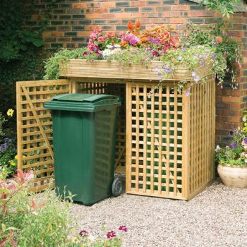 Garden Ideas landscaping with river rock dry river rock garden ideas Double Wheelie Bin Store With Planter By Kanny W158cm X H146cm